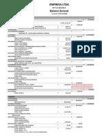 Formato Balance General Detallado 31.12.2019