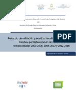 Protocolo de validación y exactitud temática del Mapa de Cambios por Deforestación de Honduras en las temporalidades 2000-2006, 2006-2012 y 2012-2016