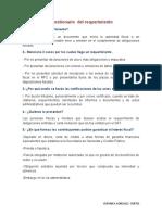 Cuestionario  del requerimiento Y la adjudicacion