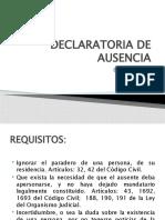 DECLARATORIA DE AUSENCIA
