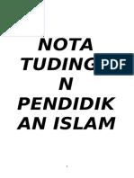 Nota Tudingan Pendidikan Islam SPM 2019 satu.doc