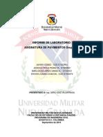 Informe de lab. pavimentos Grupo Nro. 1
