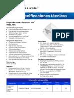 9822 N95 Particulate Respirator Spec Sheet ES