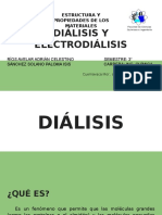 DIÁLISIS Y ELECTRODIÁLISIS