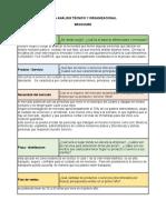 analisis tecnico organizacional formulacion de proyectos