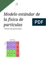 Modelo estándar de la física de partículas - Wikipedia, la enciclopedia libre