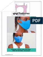 Easy DIY Neoprene Face Mask Pattern_A4