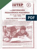 I Convención Pedagógica Nacional SUTEP 22-23 OCTUBRE 2004