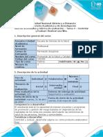 Guía de actividades y rúbrica de evaluación - Tarea 4 - controlar y evaluar
