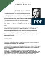 PSICOLOGIA SOCIAL Y VINCULOS