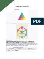 Modelo tradicional de la teoria del color