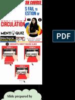 09.05.2020 - 9am - Body fluids and circulation- Menti