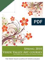 Spring Verde Valley Art Class Brochure