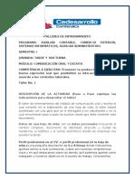 INFORME TALLERES DE ENTRENAMIENTO  COMUNICACIÓN ORAL Y ESCRITA 1 p 2020