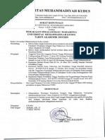 616, SK pemakaian seragam bagi mahasiswa UMKU TAhun 2019 2020