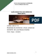 GUIA DIDACTICA DE DERECHO MERCANTIL SEGUNDO A Y B