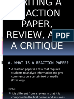 REACTION PAPER, REVIEW & CRITIQUE 12-D