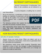 Building resisting earthquakes