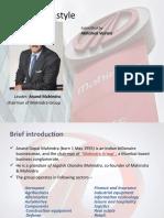Anand mahindra leadership style