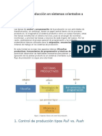 Control de producción en sistemas orientados a procesos