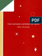 Una Sensata Cantidad de Delitos, Nils Christie