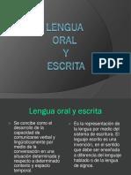 Lenguaje Oral y Escrito