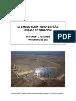 EL CAMBIO CLIMÁTICO EN ESPAÑA.