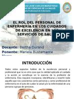 EL ROL DEL PERSONAL DE ENFERMERÍA