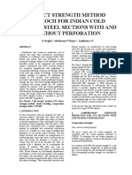 1.DIRECT STRENGTH METHOD APPROCH FOR COLD FORMED STEEL SECTIONS WITH AND WITHOUT PERFORATION FOR COMPRESSION MEMBER JRNL.docx