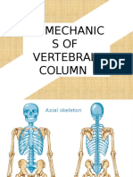 biomechanics of the vertebral column
