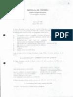 Acta de Sesion No. 002 de 2005