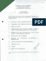 Acta de Sesion No. 003 de 2005