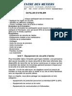 OUTILLES D'ATELIER