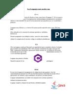5 lenguajes de programacion