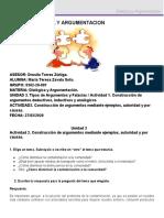 U3 Actividad 2. Construcción de argumentos mediante ejemplos, autoridad y por causas..docx