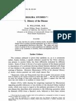 HIstory of Cholera to 1923
