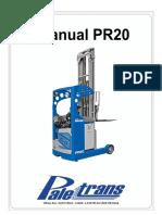 MANUAL DE USO E PEÇAS - PR20 -  A partir série 0931166