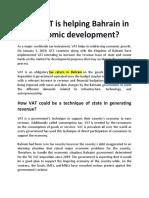 How VAT is Helping Bahrain in Economic Development