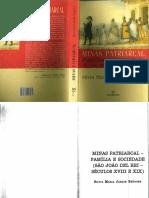 BRÜGGER Silvia M J - Minas Patriarcal - Família e Sociedade  (São João del-Rei - séculos XVIII e XIX) caps 1 a 3