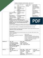 CRONOGRAMA SEMANA DE DESARROLLO INSTITUCIONAL