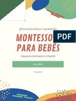 e-Book Montessori para Bebês de 0 a 18 Meses