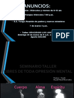 Seminario taller Libres de Toda Opresión Mental