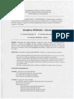 MTM3102 - Cálculo 2 - Plano de Ensino