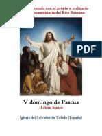 V Domingo de Pascua. Propio y Ordinario de la santa misa