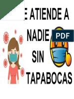 NO SE ATIENDE A  SIN TABABOCAS