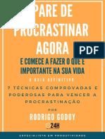 E-book Pare de Procrastinar - Efetividade 24h