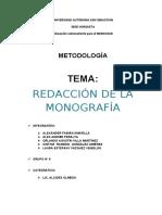 Redacción de Monografía