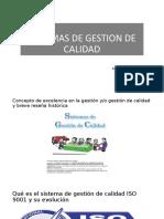 SISTEMAS DE GESTION DE CALIDAD