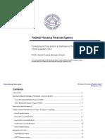 FHFA 2010 Q3 Foreclosure Prevention Report