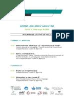 Semana Laudato Si' Argentina - Programa